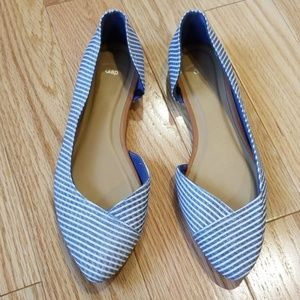 Gap Flats - Blue and White Striped Canvas